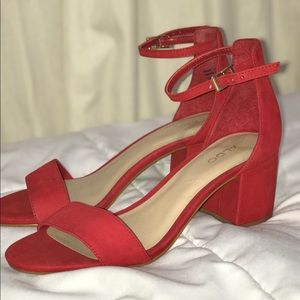 Red ankle heels